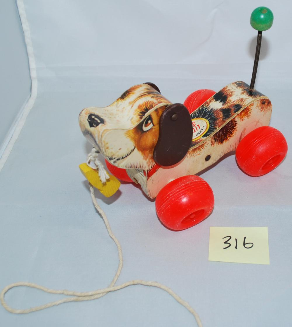 Vintage Fisher Price Wagging Tail Pull Dog