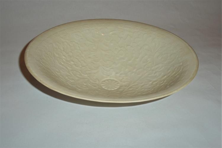 An Exquisite Song Dynasty Massive Dingyao Ivory-White Glazed Bowl