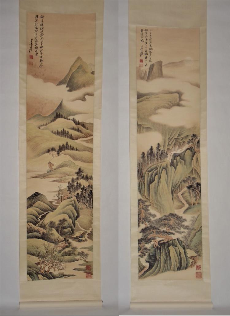 Zhang Daqian (1899-1983) / Life in Cloud-Clad Verdant Mountains
