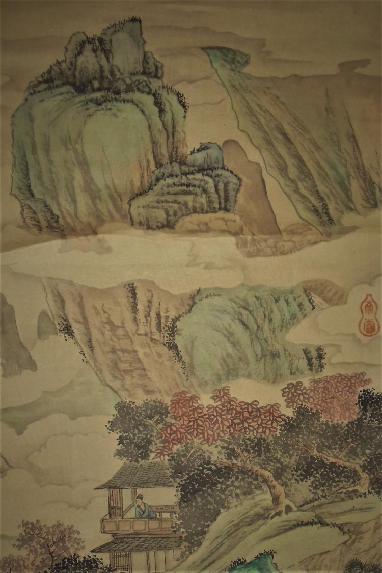 Hanging Scroll of Life in Mountain / Shen Zhou (127-1509)