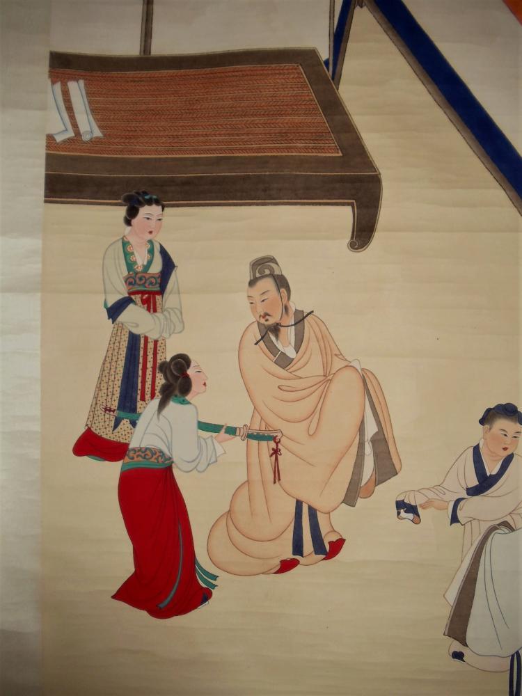 Governor Lv Qian of Wei State Giving His Favorite Sword to Wang Xiang / Zhang Daqian (1899-1983)