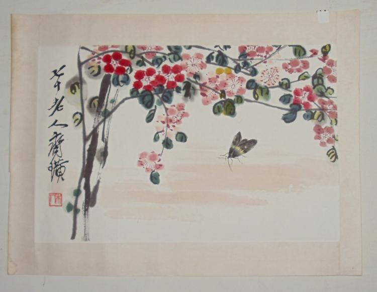 Two Small Mounted Paintings by Qi Baishi (1864-1957)