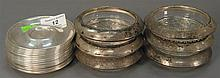 Group of sterling to include 16 saucers and 6 rimmed coasters, 15.4 t oz.
