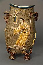 Hautin Boulenger HB & Cie Choisy le Roi Japanesque vase, ht. 12 1/2in.