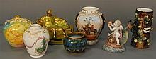Seven piece lot including Royal Bonn, Zsolnay, Teplitz, etc.