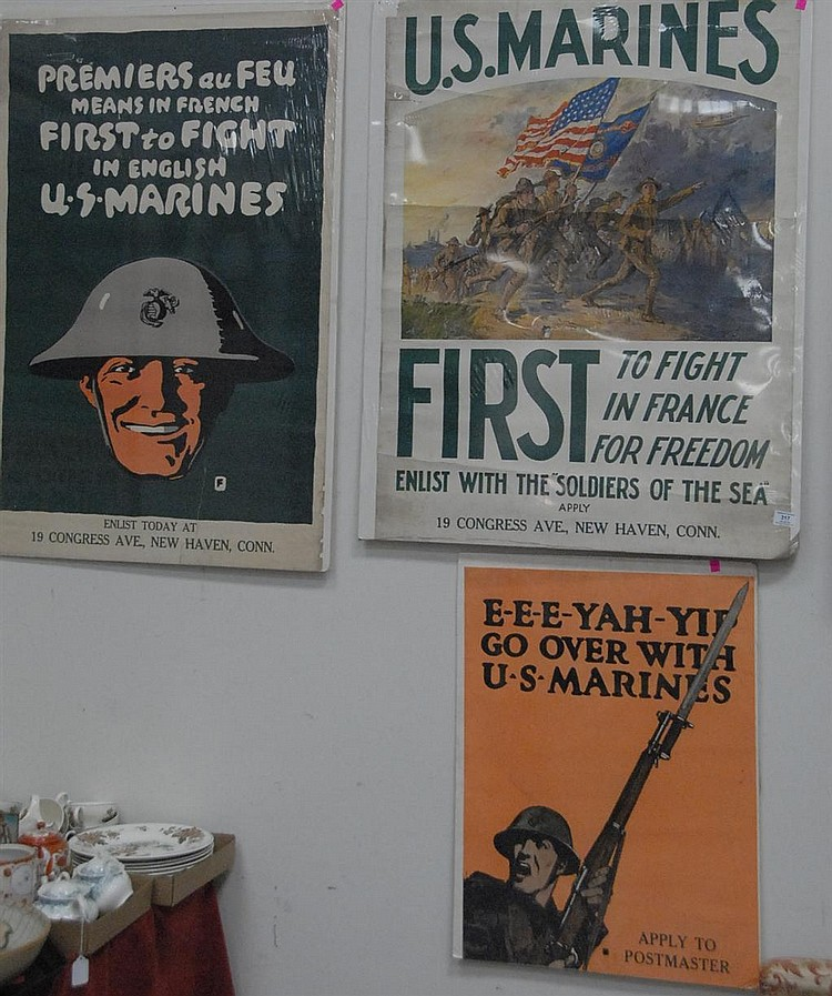 Three WWI lithograph posters to include