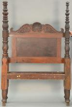 Federal four post bed with acanthus carved posts, circa 18740. interior: 47