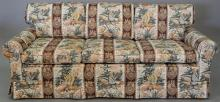 Upholstered sofa bed (very clean upholstery). lg. 76 in.   Provenance: The Estate of Thomas F Hodgman of Fairfield, Connecticut