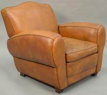 DeCaro leather easy chair.
