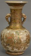 Satsuma vase (small chip on foot). ht. 12 1/4 in.