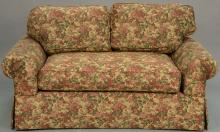 Attributed to J. Robert Scott, two piece lot to include custom sofa and loveseat. lg. 93in. and 54in.