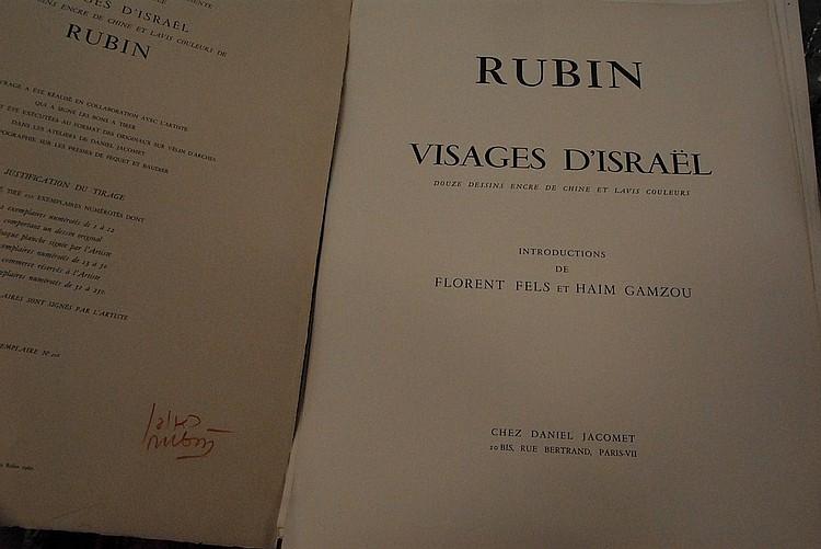 Large folio marked Rubin Visajes d'Israel.