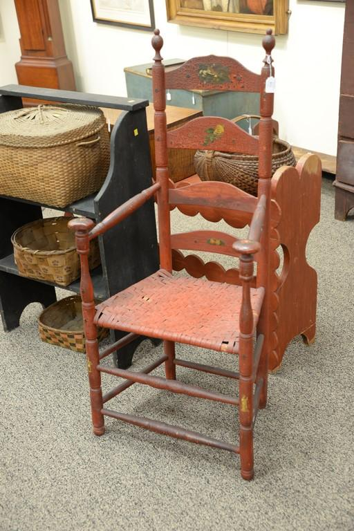 ladder back great chair four slat with mushroom top hand re