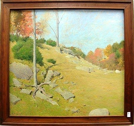 Frank V. Dumond oil on canvas, 28