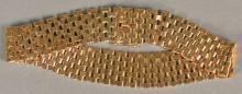 18K rose gold mesh bracelet marked Argentina. lg. 7 1/2in., 28.9 grams