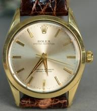 Rolex gold shell over stainless steel Oyster Perpetual wristwatch, model 1024, sn-1111324