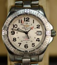 Breitling stainless steel Colt Automatic GMT with box.