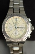 Breitling A39363 automatic chronograph with box, stainless steel