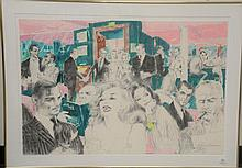 LeRoy Neiman (1921-2012) 1989 limited edition serigraph diptych in color on two woven sheets