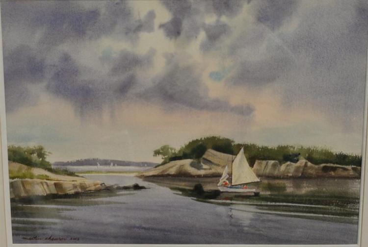 Martin Ahearn (1918-2009) watercolor