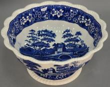 Large Copeland Spode tower footed punch bowl. ht. 8in., dia. 15 1/2in.