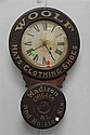 Woolf Hats, Clothing, Shoes Madison & Halsted Sts. Chicago ILL advertising clock by Baird Clock company Plattsburgh NY, ht 30 1/2