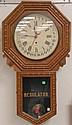 Oak Calendar regulator clock, ht. 33
