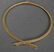 14k gold necklace. 57.7 grams, lg. 16in.