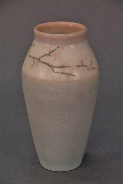 Rookwood vase 925D, four colors, signed on bottom L.A. for Lenore Asbury 1866-1933. ht. 8in.