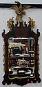 Mahogany Chippendale style mirror with eagle finial, ht. 56in.