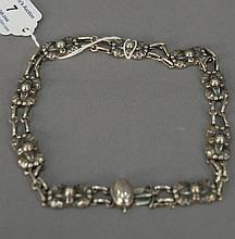 Georg Jensen sterling necklace, lg. 15in., 1.3 t oz.