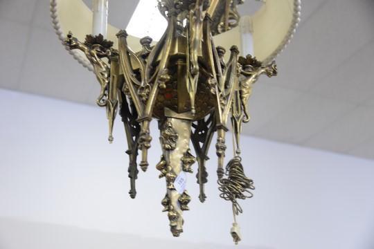 Gothic Style Heavy Brass 24 Light Chandelier Each Light Hav