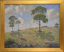 George Victor Grinnell (1878-1946) A Mid Summer Day, Mystic Connecticut oil on canvas signed lower right: 1919 G. Victor Gr...