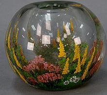 Chris Heilman art glass vase signed on bottom. ht. 5in.