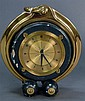 Hermes Jaeger Le Coultre ship's style clock (not in working condition - minor chips on outside), ht. 8 1/2in.