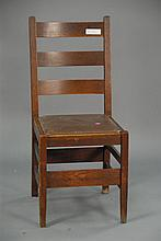 Gustave Stickley oak side chair.
