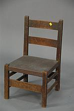 Mission Oak child's side chair.