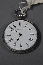 P.S. Bartlet silver open face pocket watch.