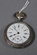Albert Lenaert key wind silver open face pocket watch.