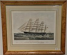 Nathaniel Currier After a painting by James Buttersworth (1817-1894) Clipper Ship