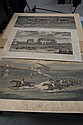 Early racing prints, Doncaster Races, The Winning Post, and Tattenham Corner, 13 1/2