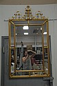 Gilt decorated mirror, 57