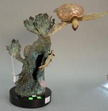 Stewart Wegner bronze sea turtle sculpture