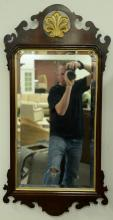 Two contemporary mirrors including mahogany Council Chippendale style mirror 41