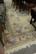 Chinese Oriental carpet, 9'' x 12''.