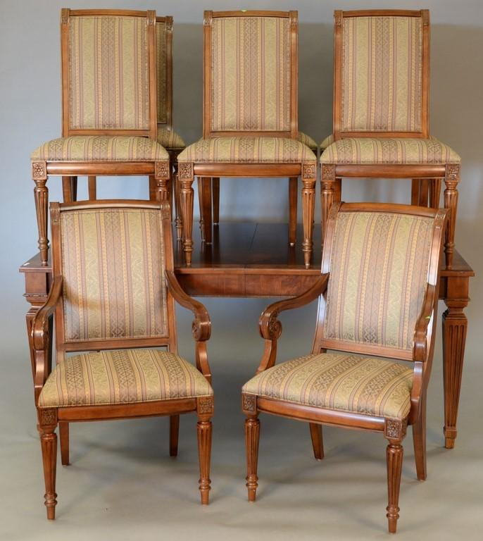 Ethan Allen dining set with eight upholstered chairs and tab : H0119 L110242758 from www.invaluable.com size 686 x 768 jpeg 71kB