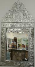 Two metal framed mirrors, 65