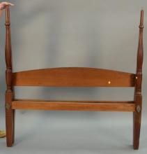 Mahogany four post queen size bed, ht. 58in.