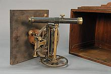 Surveying Transit by Stackpole and Brother, New York, in mahogany fitted box.