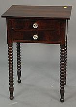 Two stands, each with two drawers, early to mid 19th century, ht. 28in.; top: 21